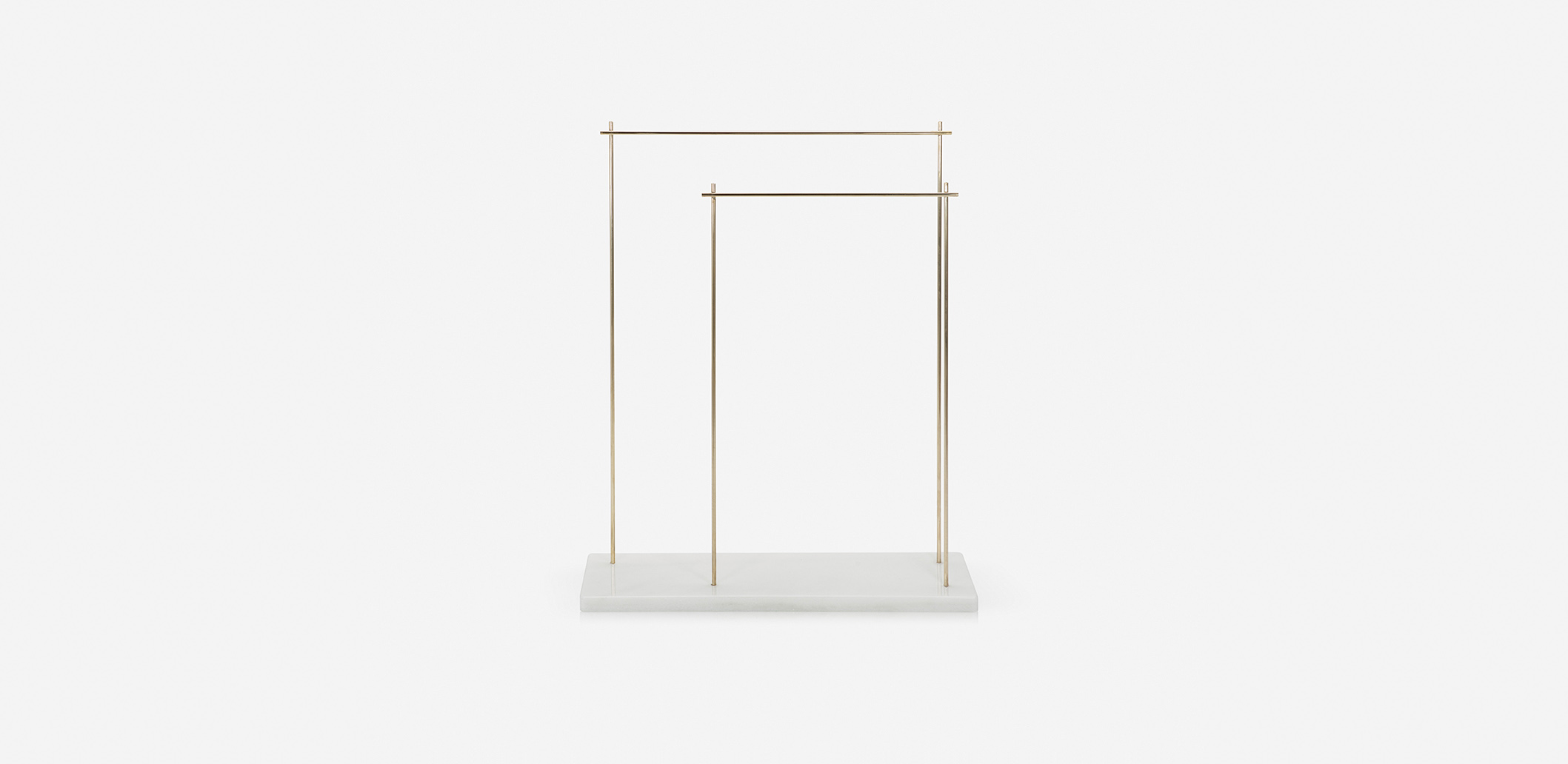Marblelous rack - MRBL118B - Carrara or Marquina marble. solid brass