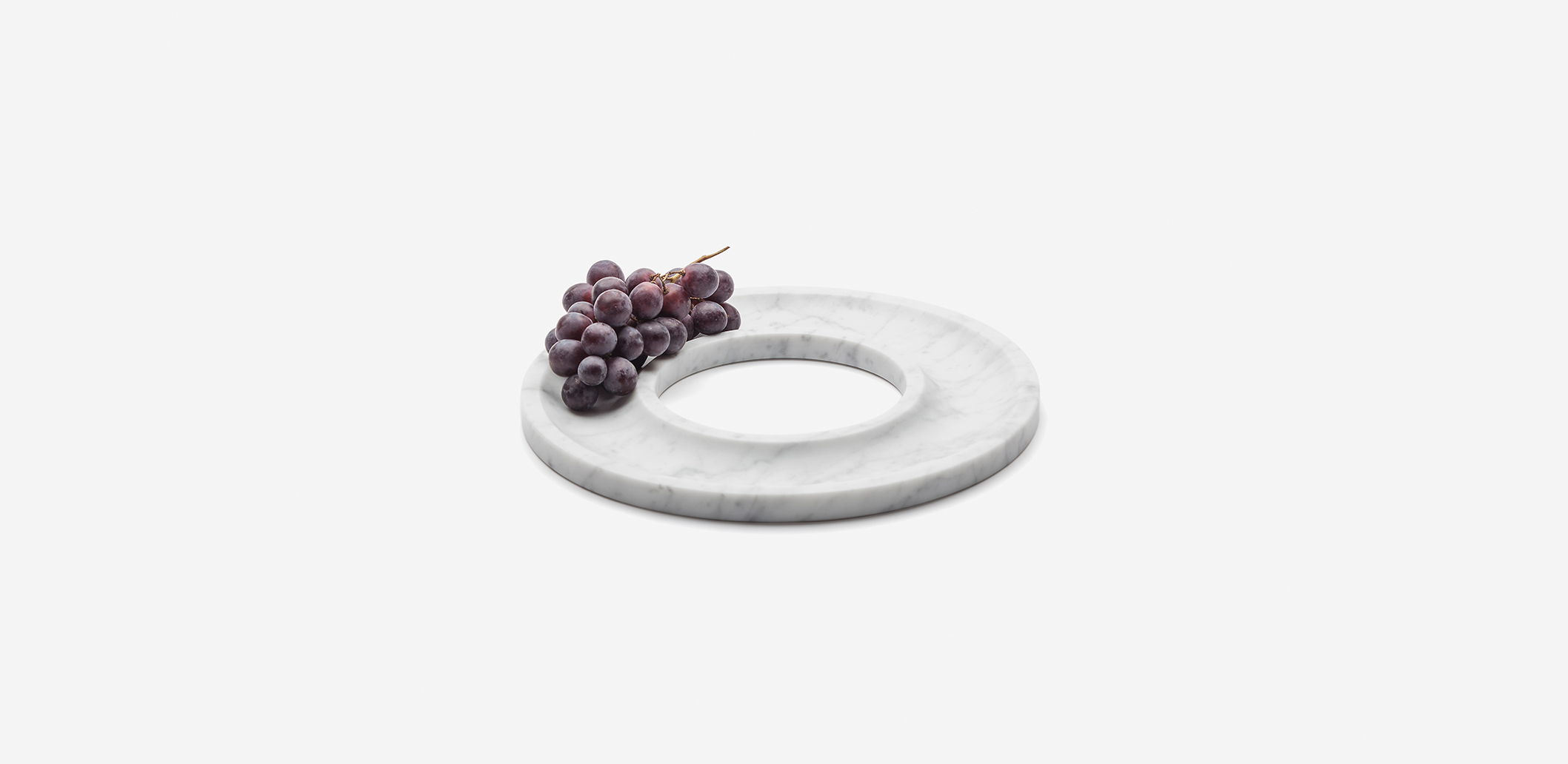 Marblelous Ring tray MRBL105 Carrara marble