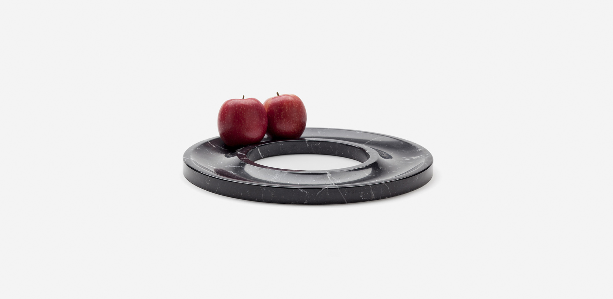 Marblelous Black Ring tray MRBL105/M Marquina Marble